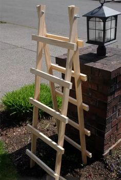 Increase Some Modern Day Design For Your Front Room With Art Deco Coffee Tables Diy Garden Trellis. Incredible For My Cucumbers And Maybe Even Zucchini. Modern Garden Design, Backyard Garden Design, Diy Garden, Garden Crafts, Garden Projects, Modern Design, Garden Ideas, Herbs Garden, Fruit Garden