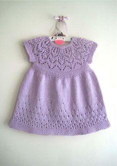 Ravelry: Evie Dress pattern by Suzie Sparkles. Hand Knitting pattern baby & girl… Ravelry: Evie Dress pattern by Suzie Sparkles. for baby to 6 year old girl. Baby Girl Patterns, Girl Dress Patterns, Baby Knitting Patterns, Crochet Patterns, Girls Knitted Dress, Knit Baby Dress, Crochet Dresses, Baby Sweaters, Girls Sweaters
