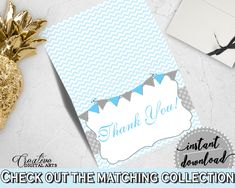Boys Baby Shower Baby Shower Lines Gratitude Thank-you Note THANK YOU CARD, Prints, Customizable Files, Baby Shower Idea - cbl01 #babyshowergames #babyshower