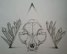 Cat Skull by  Melanie Peterson