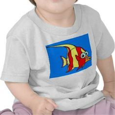 Infant T-Shirt White Fish