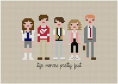 Cross stitch pattern -- a quirky pillow for the guest room?