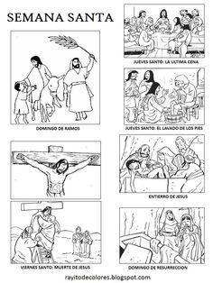Semana Santa Catholic Crafts, Catholic Kids, Kids Church, Bible Story Crafts, Bible Stories, School Prayer, Jesus Is Risen, Bible Coloring Pages, Les Religions