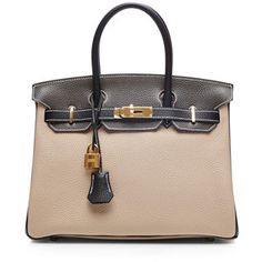 Heritage Auctions Special Collection Hermes 30Cm Argile, Graphite, & Black Clemence Birkin