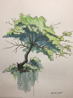 Landscape Design Rendering Ideas 57 Ideas For 2019 Landscape Architecture Drawing, Landscape Sketch, Lawn And Landscape, Landscape Drawings, Fantasy Landscape, Landscape Art, Landscape Design, Art Drawings, Rendering Architecture