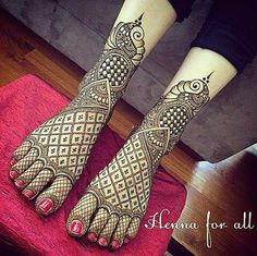 Heena design for feet