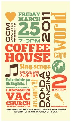 Coffee House Promotional Poster by Lucion Creative at Coroflot