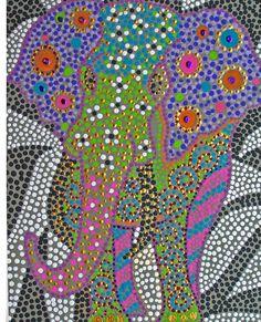 Polka Dot Ganesha Painting  - Polka Dot Ganesha Fine Art Print