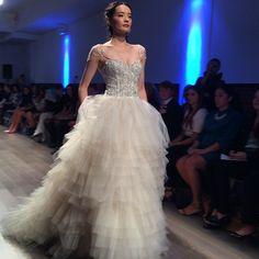 High-volume sparkle. Gown by Lazaro