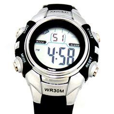 Resist DW121M PNP Matt Silver caja de reloj alarma de la fecha BackLight Agua Reloj Digital