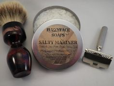 SALTY MARINER Luxury Tallow & Shea Butter Shaving Soap by FUZZYFACESOAPS on Etsy