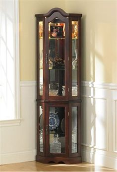 Unique Corner Display Cabinet Glass