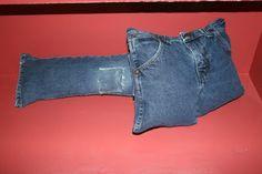 blue jean pillows