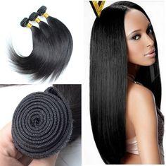 3pcs Peruvian Virgin Straight Human Hair Silky Straight Natural Color Grade 6A Bundle | Wholesale Hair Extension Factory