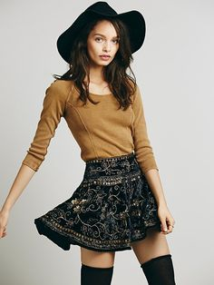 Free People Little Layla Velvet Mini