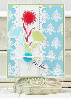 Damask Designs, Grand Peaceful Wildflowers, Blueprints Die-namics, Blueprints 10 Die-namics, Mini Monarch Border Die-namics - Mona Pendleton