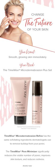 Meet our age-fighting duo! Get the look of polished, younger skin and significantly smaller pores with the TimeWise® Microdermabrasion Plus Set. | Mary Kay