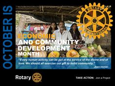 Rotary Mini Poster - October - Economic and Community Development Month by GT