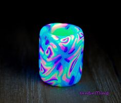 FREE Shipping   UV Dread Bead Polymer Clay Large Blacklight