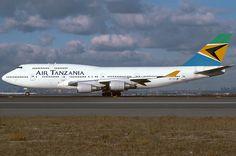 Air Tanzania- Boeing 747 400 at JFK