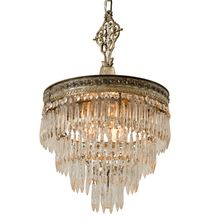 Incredible Silver Plated Crystal Chandelier