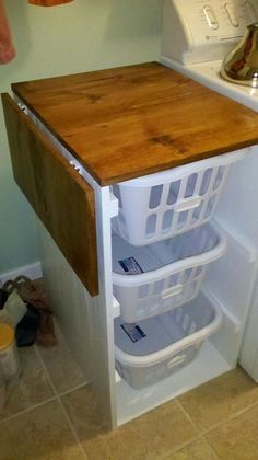 "Excellent ""laundry room storage diy"" info is offered on our internet site. Read more and you will not be sorry you did. Laundry Basket Organization, Laundry Room Baskets, Laundry Room Organization, Laundry Room Design, Laundry Sorter, Storage Organization, Laundry Organizer, Lid Organizer, Laundry Hamper"