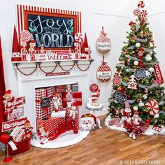 Share your joy this Christmas! With its merry mix of peppermint swirls sparkly snowmen and magical nutcrackers the Candy Cane Lane collection is sure to spread good cheer all season long. by hobbylobby Decoration Christmas, Whimsical Christmas, Decoration Table, Outdoor Christmas, Christmas Holidays, White Christmas, Victorian Christmas, Peppermint Christmas Decorations, Vintage Christmas