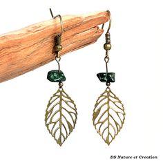 Gypsy hippie jewelry malachite earrings by DSNatureetCreation https://www.etsy.com/listing/241984807/gypsy-hippie-jewelry-malachite-earrings