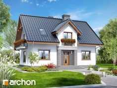 Dom w lucernie 5 Village House Design, Village Houses, Micro House, Design Case, Home Fashion, Bungalow, Cabin, Mansions, House Styles