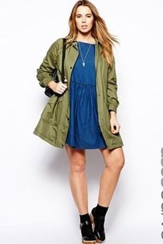 ASOS CURVE Swing Trench With Popper Front | 100 Gorgeous Fall Jackets For Under $100