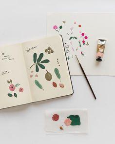 Sketchbook Inspiration, Art Sketchbook, Painting Inspiration, Art Inspo, Journal Inspiration, Design Inspiration, Floral Illustrations, Botanical Illustration, Botanical Art