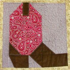 free pattern = Cowboy Boots quilt, 56 x 70