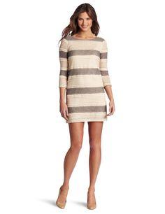 Julie Dillon Women's 3/4 Sleeve Lace Knit Shift Dress