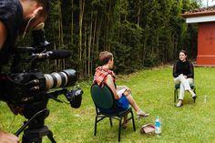 Anna interviewing Sylvia