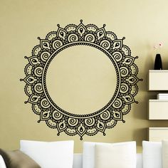 Indian Religious Wall Stickers Mandalas Flower Vinyl Art Wall Decals Adhesive Removable Home Decor For Living Room