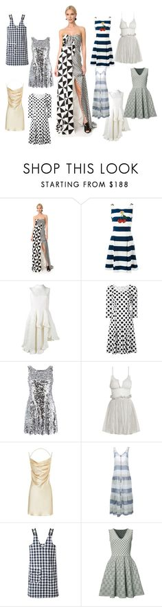 """stripe dresses"" by gadinarmada-1 ❤ liked on Polyvore featuring Monse, Dolce&Gabbana, Simone Rocha, Alexander McQueen, Yves Saint Laurent, Lisa Marie Fernandez and Peter Jensen"