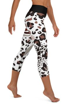 Tiger Print Yoga Leggings Yoga Tights Workout Leggings Yoga Pants Women Aesthetic Clothing 80s Clothing Rave Outfit Dance Costume Hot Pants