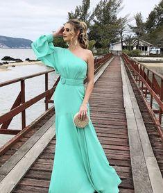 Turquoise Clothes, One Shoulder, Shoulder Dress, Celebrity Dresses, Fashion Dresses, Bridal, Stylish, Celebrities, Casual