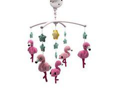 Crochet patterns for cute toys von KNUFL Half Double Crochet, Single Crochet, Baby Patterns, Doll Patterns, Crochet Patterns Amigurumi, Crochet Hooks, Mobiles, Crochet Flamingo, Baby Mobile