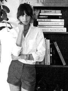 Style Icon, Alexa Chung: The classic white shirt | Storey by Storey Jewelry