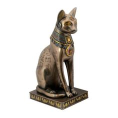 Bastet Bronze Hieroglyphic Cat Statue | Egypt | Pinterest ...