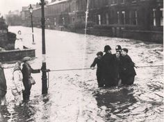 Clarence Street, Salford, after River Irwell burst its banks Manchester Police, Salford City, The Precinct, Ordinary Lives, John The Baptist, Local History, Life Goes On, Old Photos, River