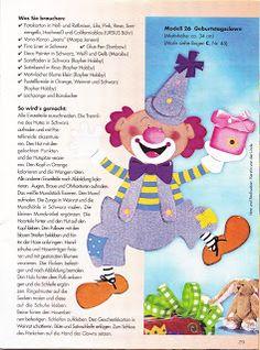 OviVarázs: sablon Clowns, Carnival Crafts, Album, Creative Crafts, Decoration, Techno, Dinosaur Stuffed Animal, Photo And Video, Blog