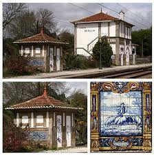 Estação Caminhos de Ferro  Leça do Bailio Portugal, Portuguese Tiles, Gazebo, Outdoor Structures, House Styles, Collection, Paths, Iron, Mosaics