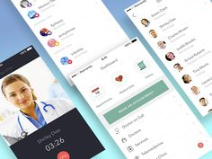 Doctor On-Demand App Concept designed by Reinvently. Karen Clark, Charles Brown, Doctor On Call, Pediatrics, Medical, Concept, App, Mobile Ui, History