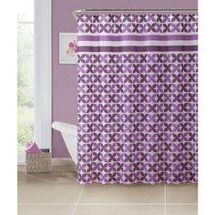 Bath Bliss PEVA Pinwheel Design Shower Curtain