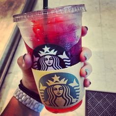 Question of the day: what is your favorite drink at Starbucks? Mine's the cotton candy frap!