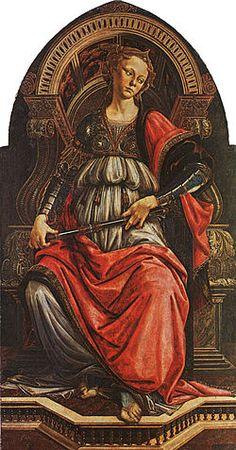 La fortaleza es una obra del pintor renacentista Italiano Sandro Botticelli. Está realizado al temple sobre tabla cimbrada. Mide 167 cm de alto y 87 cm de ancho. Data de 1470 y se conserva en la Galería de los Uffizi en Florencia.
