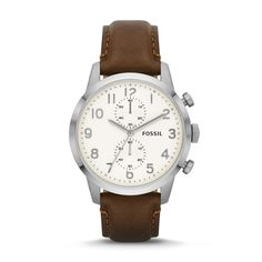 Townsman Chronograph Brown Leather Watch - Fossil