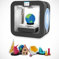 Winner of the Popular Mechanics Breakthrough Award, this is the two-color printer that creates exact, three-dimensional reproductions of objects. Over a thousand free designs, such as an iPhone case, a bracelet, and the Sphinx of Hatshepsut can be downloaded from a website.  #3DPrinter #Cube http://fancy.to/9ixg15